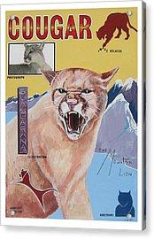 Cougar -visualisation Acrylic Print by John Keaton