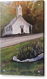 Country Church Acrylic Print by Betty Pimm