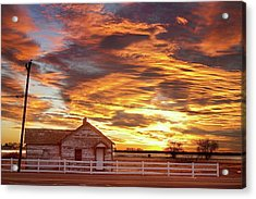 Country House Sunset Longmont Colorado Boulder County Acrylic Print by James BO  Insogna