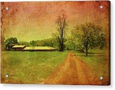 Country Living - Bayonet Farm Acrylic Print by Angie Tirado