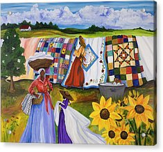 Country Quilts Acrylic Print by Diane Britton Dunham