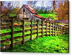 Country Spirit Acrylic Print by Debra and Dave Vanderlaan