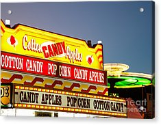 County Fair Concession Stand Food Sign Acrylic Print by Paul Velgos