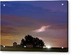 County Line 1 Northern Colorado Lightning Storm Acrylic Print by James BO  Insogna