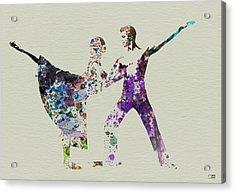 Couple Dancing Ballet Acrylic Print by Naxart Studio