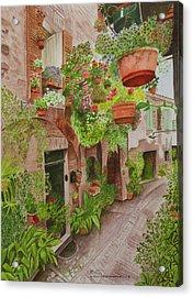 Courtyard Acrylic Print by C Wilton Simmons Jr