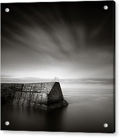 Cove Breakwater Acrylic Print by Dave Bowman