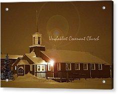 Covenant Church Acrylic Print by Arlene Rhoda Nanouk