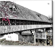 Covered Bridge 2 Acrylic Print by Scott Hovind