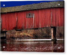 Covered Bridge Acrylic Print by Michael L Kimble