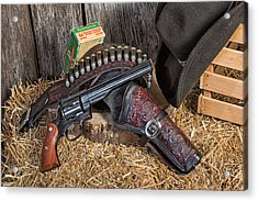 Cowboy Gunbelt Acrylic Print by John Kiss