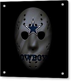 Cowboys War Mask 2 Acrylic Print by Joe Hamilton