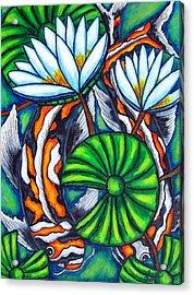 Coy Carp Acrylic Print by Lisa  Lorenz