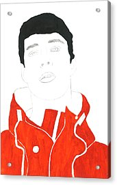 Cp Red Hoodie Acrylic Print by Thomas Paul