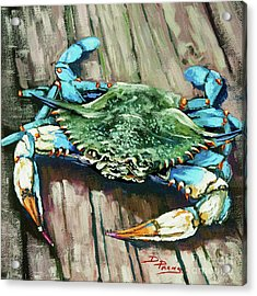 Crabby Blue Acrylic Print by Dianne Parks