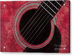 Cranberry Guitar Acrylic Print by Andee Design