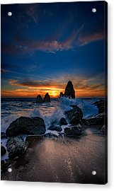 Crashing Waves At Rodeo Beach Acrylic Print by Rick Berk