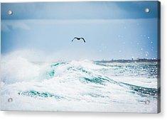 Crashing Waves Acrylic Print by Parker Cunningham