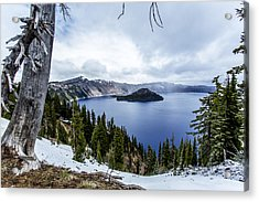 Crater Lake In Spring Acrylic Print by Michael Parks