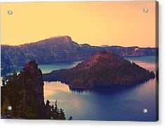 Crater Lake Acrylic Print by Steve Warnstaff