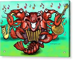 Crawfish Band Acrylic Print by Kevin Middleton