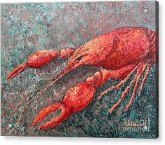 Crawfish Acrylic Print by Todd A Blanchard