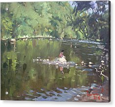 Credit River By Norval On Acrylic Print by Ylli Haruni