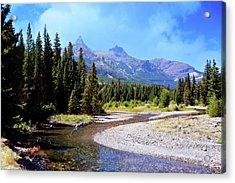 Creek In The Beartooths Acrylic Print by Marty Koch