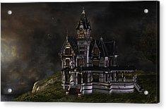 Creepy Mansion Acrylic Print by Marie-Pier Larocque