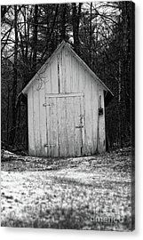 Creepy Old Shed In The Cemetary Acrylic Print by Edward Fielding
