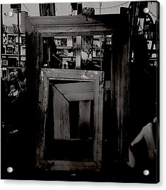 Creepy Old Stuff - Empty Frames Acrylic Print by Marco Oliveira