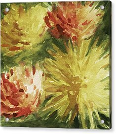 Cremon Mums Acrylic Print by Beverly Brown