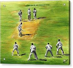 Cricket Duel Acrylic Print by Richard Jules