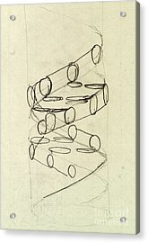 Cricks Original Dna Sketch Acrylic Print by Science Source