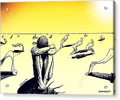 Crisis Of Leader Acrylic Print by Paulo Zerbato