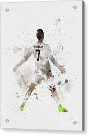 Cristiano Ronaldo Acrylic Print by Rebecca Jenkins