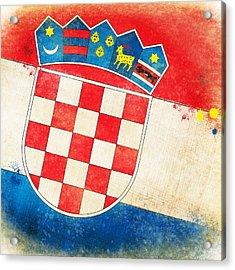Croatia Flag Acrylic Print by Setsiri Silapasuwanchai