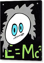 Cronkle Einstein Acrylic Print by Jera Sky