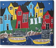 Crooked House Bay Acrylic Print by Beverly Livingstone