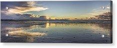 Crosby Beach Panorama Acrylic Print by Paul Madden