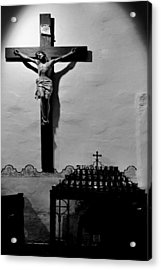 Cross Mission San Diego De Alcala Acrylic Print by Christine Till