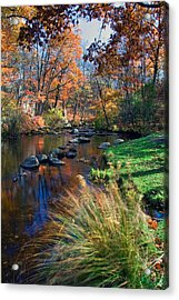 Cross River Acrylic Print by June Marie Sobrito