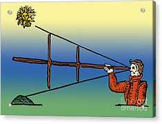Cross-staff, Navigational Instrument Acrylic Print by Science Source