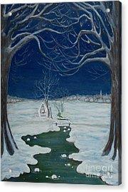 Crossing At The Shrine Acrylic Print by Anna Folkartanna Maciejewska-Dyba
