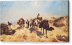Crossing The Desert Acrylic Print by Jean Leon Gerome