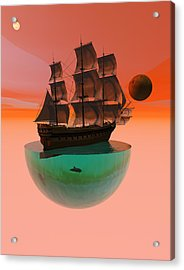 Crossing The Expanse Acrylic Print by Claude McCoy