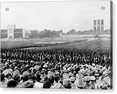 Crowd And Troops At A Massive Nazi Acrylic Print by Everett