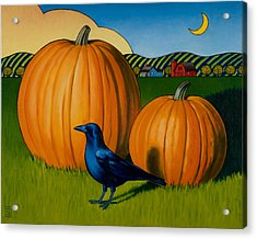 Crows Harvest Acrylic Print by Stacey Neumiller