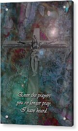 Crucifix 2 Acrylic Print by Kate Browning Word