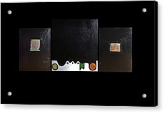 Crucifixion No. 2 Oil On Board Tryptic Acrylic Print by Radoslaw Zipper